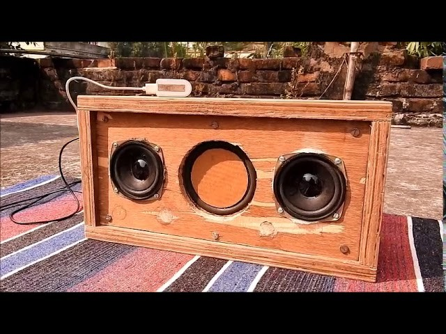 Low budget diy boombox Sound test using pam 8403 with 2