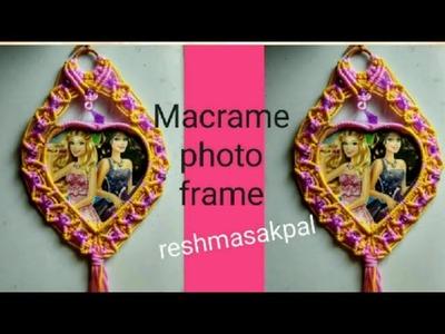 Macrame photo frame