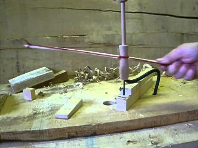Medieval bone bead making using a bow drill