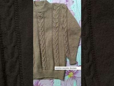 New sweater designs for gents or men in hindi - ideas for woolen sweater | Knitting pattern