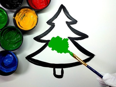 Painting Christmas tree painting pages, Painting Heart Tree and House Coloring Pages ???? (4K)