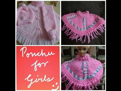 Ponchu design  for girls in hindi