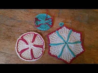 Potholder. coaster 1, round on the loom - general information