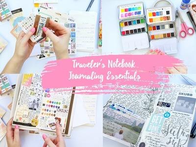 Traveler's Notebook Journaling Essentials ~ My Favourite Journal Supplies + + + LET'S GET INKIE