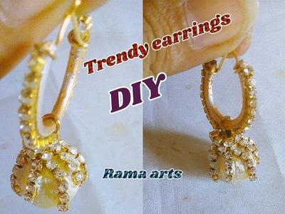 Trendy earrings - How to make this earrings | jewellery tutorials