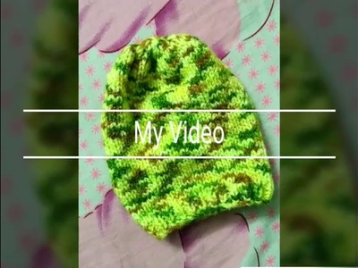 Woolen sweater designs | new design for woolen cap for kids or baby in hindi | woolen sweater making