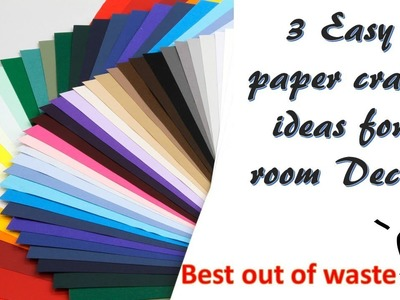 3 easy diy paper craft ideas | Room Decor | best out of waste ideas