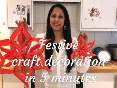 5 minute festive craft decorations (Tamil Commentary)