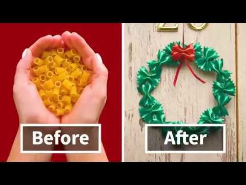 7 Amazing DIY Christmas Decorations Made From Pasta