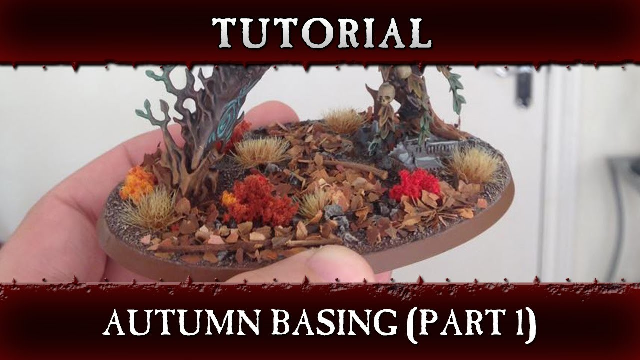 Autumn Basing Hobby Tutorial Part 1 - Warhammer Age of Sigmar