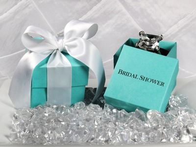 Breakfast at Tiffany Wedding Favor Box - How to Assemble Two Piece Favor Box - DIY Tutorial