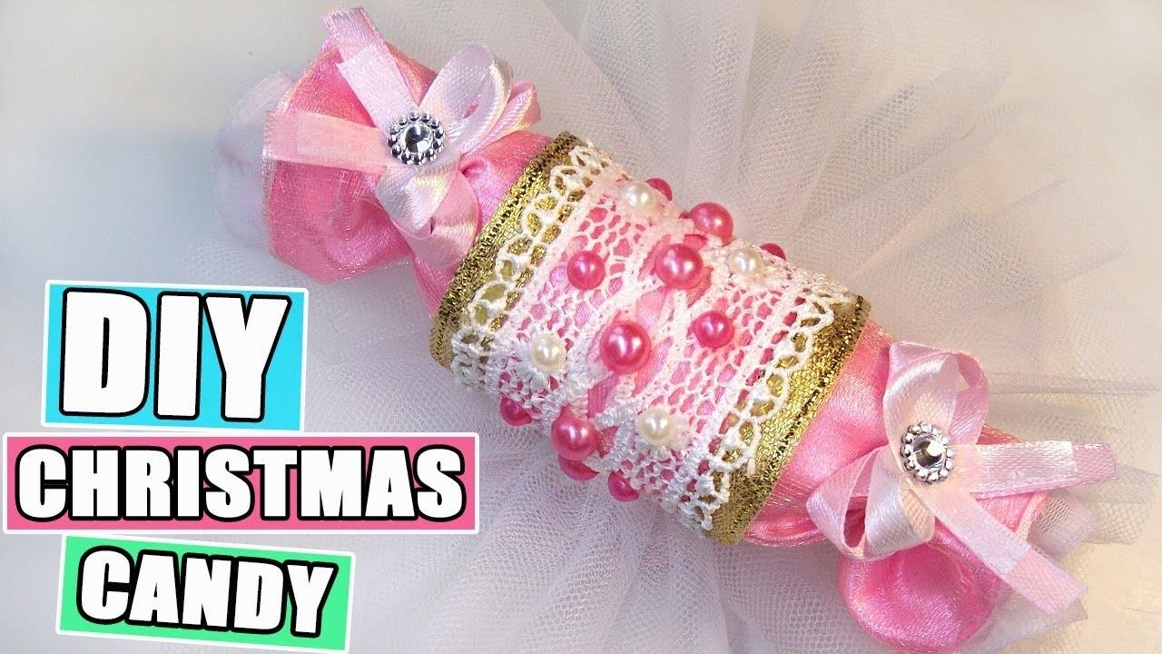 Candy Christmas Decorations DIY. Christmas Craft. How to make Christmas Candy Kanzashi