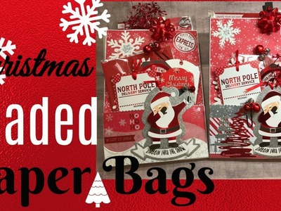 Christmas Altered.Loaded Paper Bags!