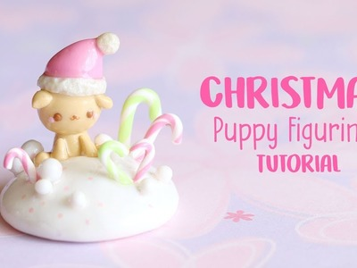 Christmas Puppy Figurine│Polymer Clay Tutorial
