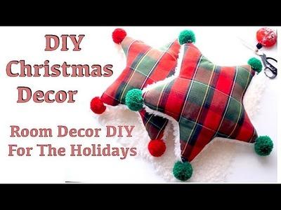 DIY CHRISTMAS DECOR. Star Pillow. Cushion Tutorial. Thrifted and Upcycledㅣmadebyaya