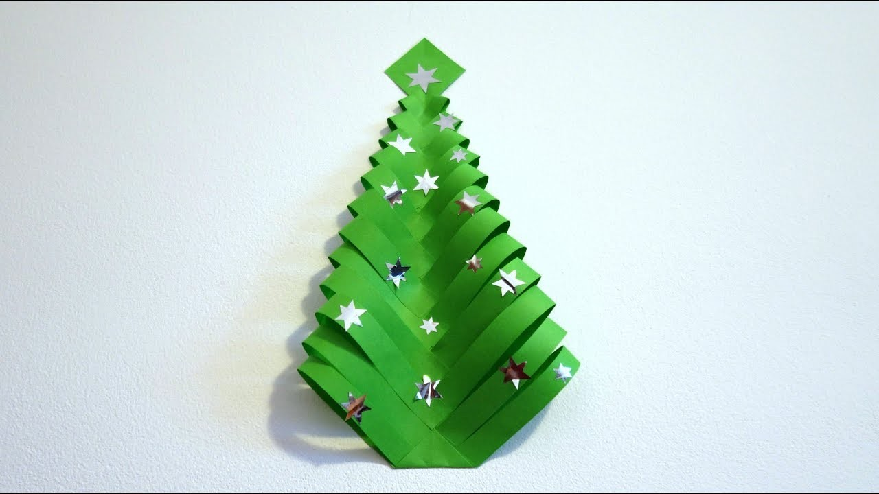 DIY Christmas decorations : Very easy paper Christmas tree | Maison Zizou