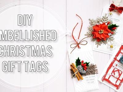 DIY Christmas Gift Tags | Shaker Tag Tutorial + 2 Embellished Tags