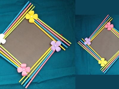 DIY: Easy Photo Frame Tutorial! !!! (Birthday Gift Idea. Room Decoration)Made With Color Paper!!!