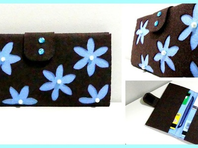 DIY Felt Wallet.Purse *DIY Gift Idea