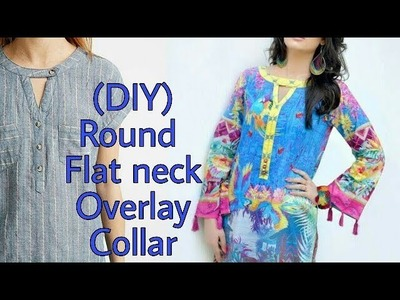 (DIY) Flat Round Neck Overlay Collar