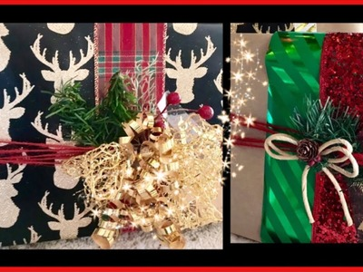 DIY~ HIGH END GIFT WRAPPING LOOK  AT DOLLAR STORE PRICES