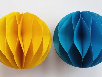 DIY: Paper Crafts !!! How to Make a Paper Honeycomb Ball !!!