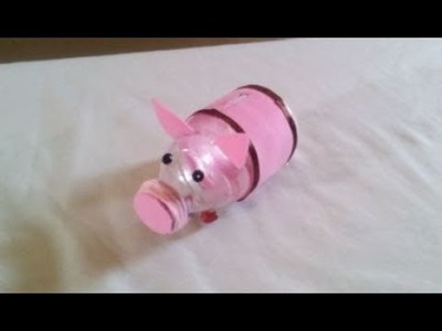 DIY Recycling Ideas - How to Make a Piggy bank for your Kids + Tutorial !