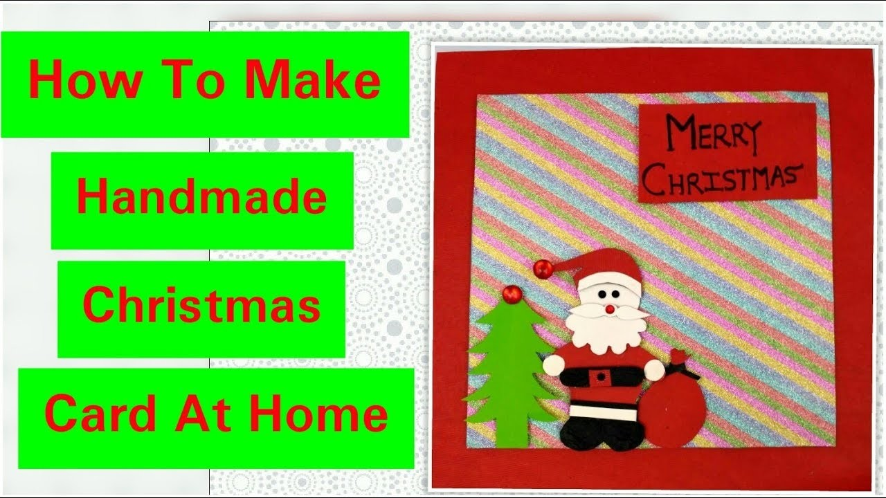 Diy Santa Christmas Cardeasy Christmas Greeting Cards Ideas For