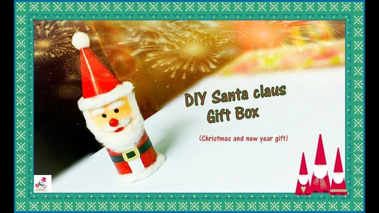 Diy Santa Claus Gift Box Christmas Craft Ideas Recycle Waste Empty