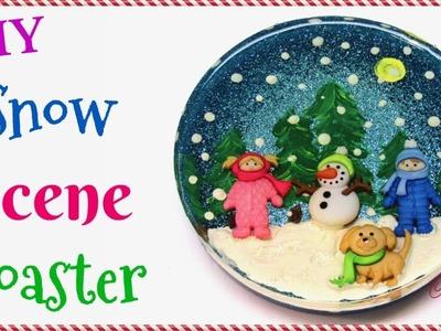 DIY Snow Scene Resin Coaster | Another Coaster Friday | Craft Klatch