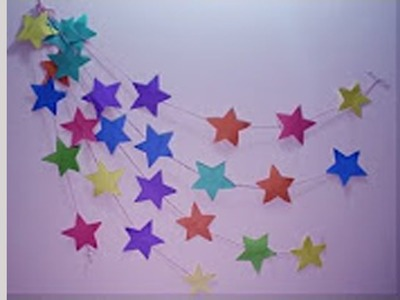 DIY : Wall Hanging Craft Ideas Using Colourful Paper | Wall Hanging Easy Tutorial | Wedding Idea
