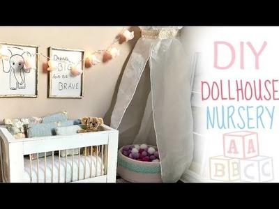 Doll craft: DIY NURSERY (baby crib. ball pit. decor)