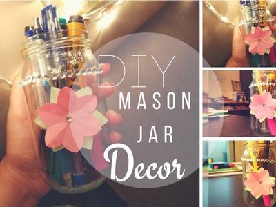 Easy Mason jar decor | Reuse Pickle Jar | DIY Mason Jar diy | Craft ideas | Organizer