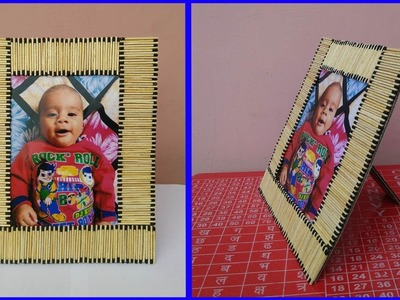 Easy Photo Frame with Matchstick, Room Decor ideas using simple craft trick #3