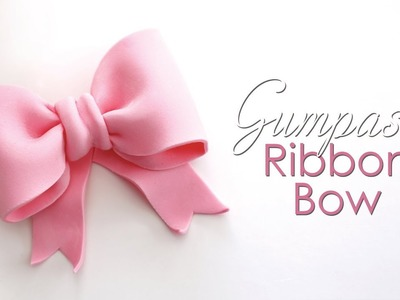 Gumpaste. Fondant Ribbon Bow Tutorial for Cakes