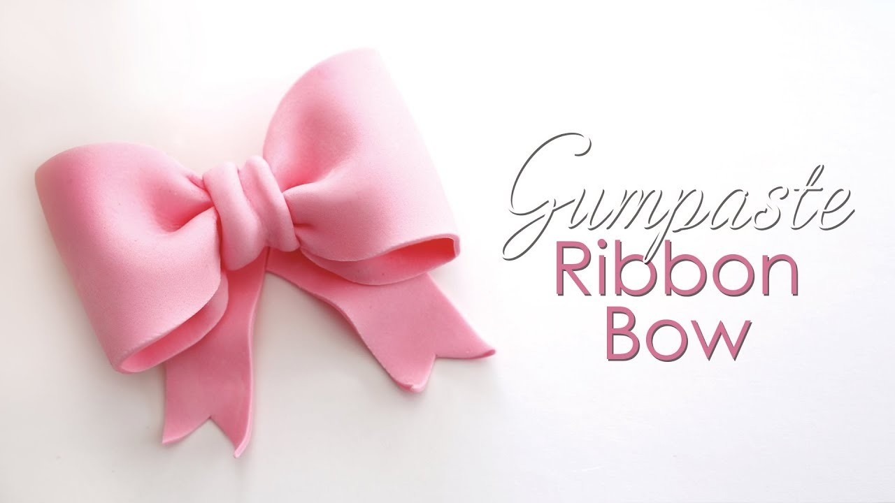 Gumpaste. Fondant Ribbon Bow Tutorial for Cakes