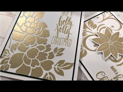 Heat Embossing with Stencils
