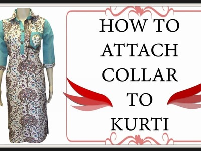 How To Attach Collar On Your Kurti | Collar Cutting And Stitching | DIY - Tailoring With Usha