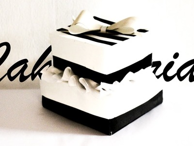 How to make a cake out of paper   Easy Craft idea for Christmas