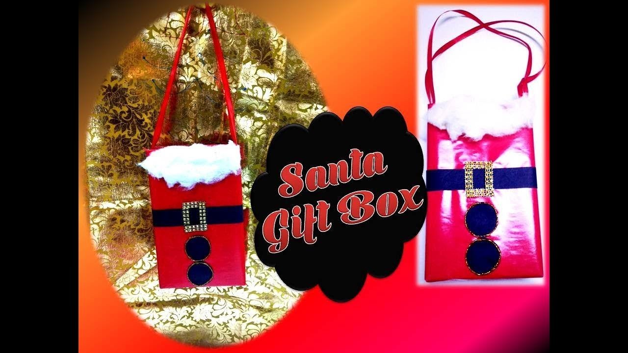 How to make a Santa Claus Gift Bag.Box .Unique Gift wrapping idea. Christmas Crafts