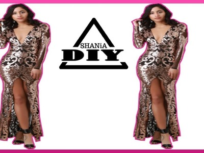 How to Make an Easy New Years Eve Party Dress || SHANiA DiY