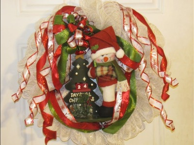 How To Make Carmen's Christmas Countdown Snowman Wreath