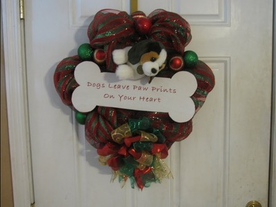 How To Make Carmen's Christmas Puppy Wreath
