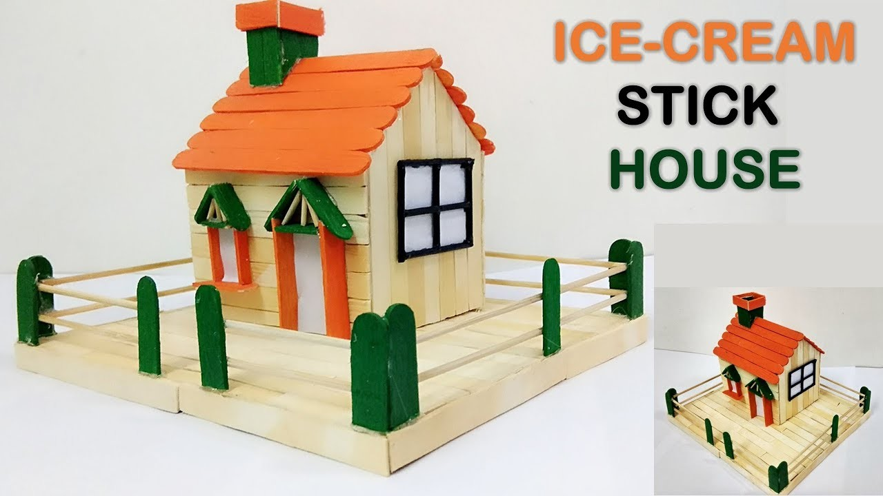 How to make ice cream stick house diy 5 minutes craft how to make ice cream stick house diy 5 minutes craft ccuart Image collections