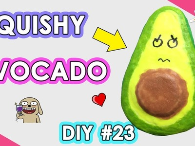 How to Make Squishy Avocado | DIY Homemade Squishy Tutorial #23