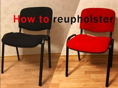 How to reupholster a chair seat diy tutorial