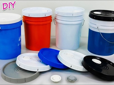 How to reuse Waste paint bucket at home | Best out of waste | Artkala 363