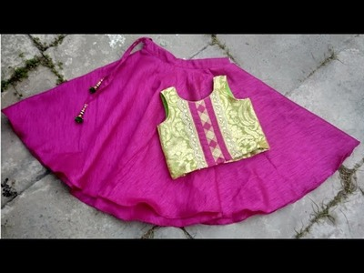 Kids designer lehenge choli cutting and stitching in hindi.easy step by step tutorial