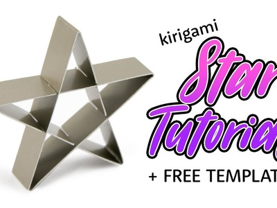 Kirigami Star Decoration Tutorial ★ Paper Craft DIY ★ Paper Kawaii