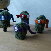 knitted teenage ninja turtles fun gear knob cover